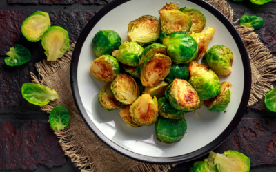 Brussels Sprout Stir Fry with Peanut Sauce