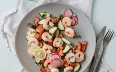 Phase 1: Marinated Spicy Shrimp Salad in Lime Juice & Cucumber